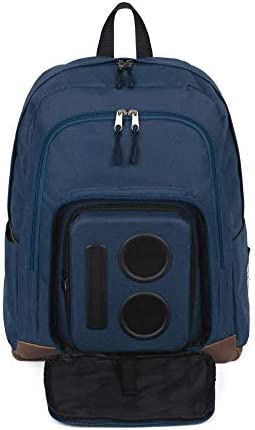 Bluetooth Speaker Backpack with 20-Watt Speakers Subwoofer for Parties Festivals Beach School. Rechargeable, Works with iPhone Android Blue, 2020 Premium Edition