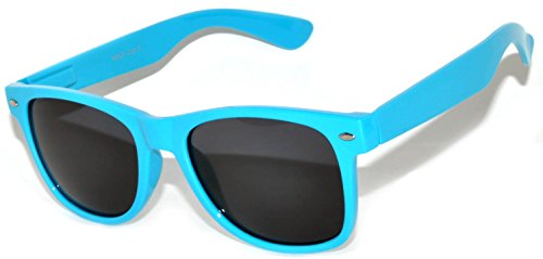 Retro Stylish Vintage Smoke Lens Sunglasses Light Blue - Blue Framed Glasses