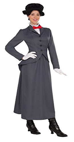 Largemouth Women's English Nanny Poppins Costume (Small/Medium (up to Size 8))]()