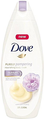 Dove Purely Pampering Nourshing Body Wash, Sweet Cream Peony 22 oz Pack of 12
