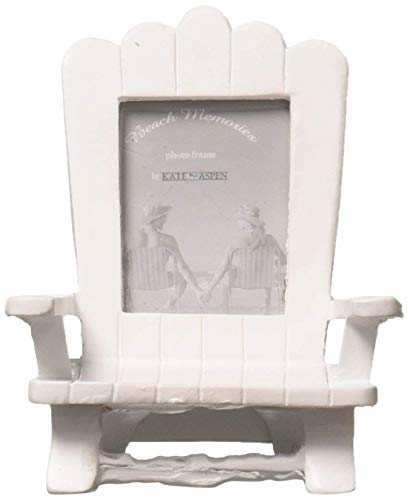 Kate Aspen 96 White Poly Resin Beach Memories Miniature Adirondack Chair Place Card Photo Frame Wedding Thank-You Gifts Baby Bridal Shower Table Décor Decorations Party Souvenir Favors