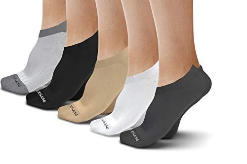 3 PAIRS No Show Socks Women & Men - Best Invisible Low Cut Socks (Beige) (Dry Skin On Feet Due To Diabetes)