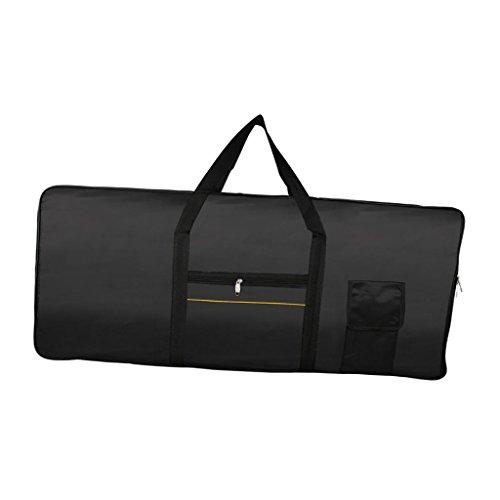 Baoblaze Portátil Negro 61 Teclado Piano Electrónico Teclado Bolsa De Almacenamiento De Contenedores Titular Organizador