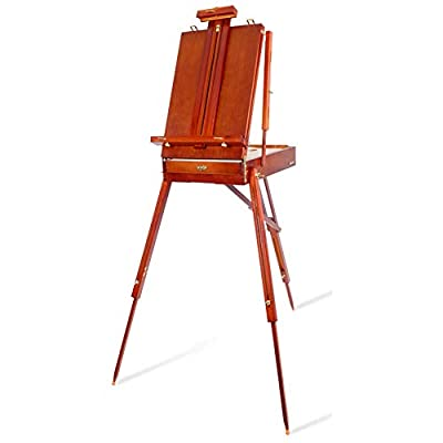 Art Supplies High-Grade Wooden Easel, Portable Folding Artist Solid Wood Easel Painting Tripod, Suitable for Outdoor Oil Painting, Gouache, Sketch