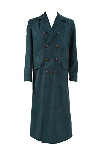 YANGGO Men's Trench Coat Costume Fashion Wool Long Coat (Men XX-Large, Clam Green) ()