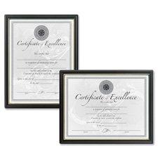 DAX Black & Gold Certificate Frames ()