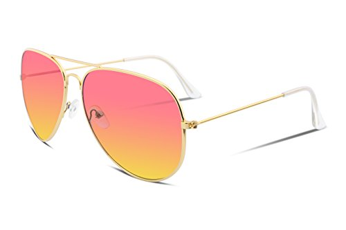 FEISEDY Retro Aviator Sunglasses Gradient Lens Men Women Brand Sunglasses - Sunglasses Aviator Brand