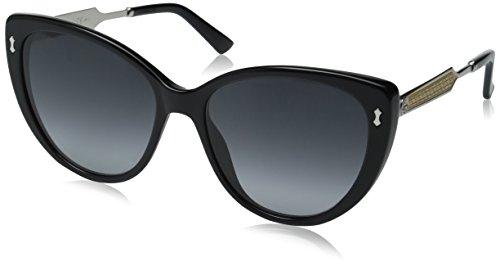 Gucci Women's GG 3804/S Black Palladium/Dark Gray Gradient - Gucci Acetate Sunglasses