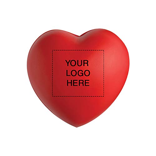 Heart Shape Stress Ball by Promo Direct   250 Qty   1.62 Each   Customization Product Imprinted & Personalized Bulk with Your Custom - Stress Personalized Balls