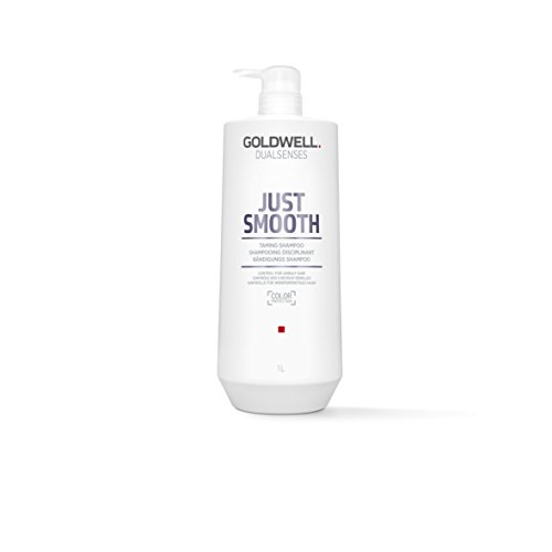 Goldwell Dualsenses Just Smooth Taming Shampoo Control Unruly Hair - FadeStop Anti-Frizz -33.8 (Goldwell Flat)