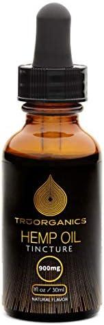 HGS Botanicals FS Hemp Oil Supplement Sublingual Tincture 900mg 30mL Natural Flavor