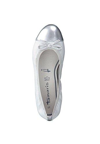 Tamaris Trend Ballerina Weiss 1-22129-28 191 White Silver White Silver