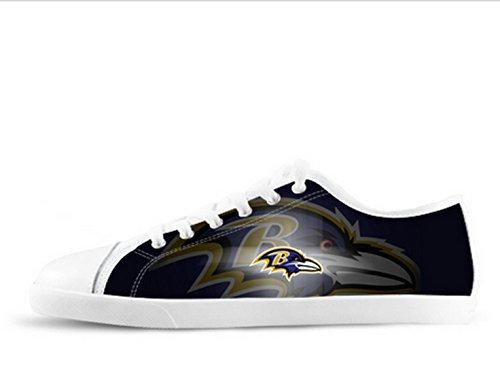 Ravens Logo Ladys Antislip Canvas Schoenen Ravens Canvas Shoes01