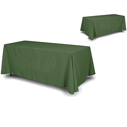 90 Green (Wall26® 4 Sided Full Back Green Tablecloth / Table Cover / Throw | Cloth Size 90