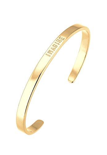 """Elli-Bracelets-Femme-Inscription """"Imagine""""-Plaqué or -0202182916_17"""