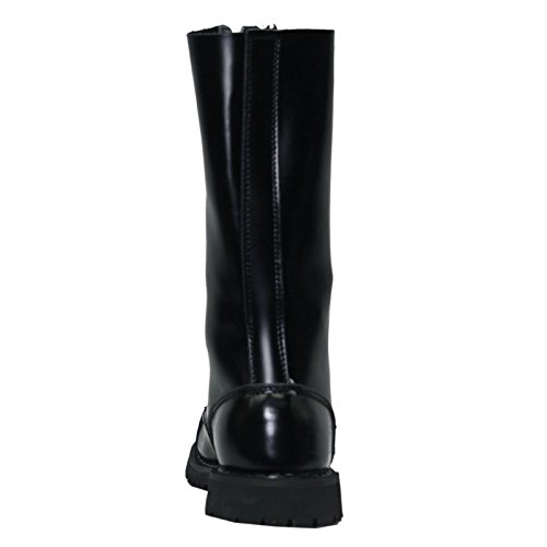 Grinder Herald 14 Eyelet Black Mens Boots Black