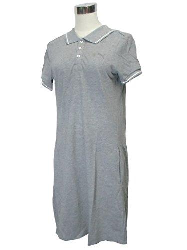 病的粘液退屈な(プーマ) PUMA×MIHARA YASUHIRO レディース ポロ ドレス 560249-02 XS 灰/白
