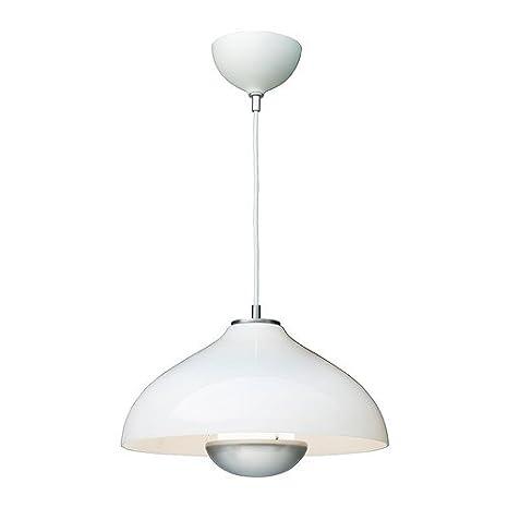 IKEA MANLJUS - Lámpara de techo, vidrio, blanco - 41 cm ...