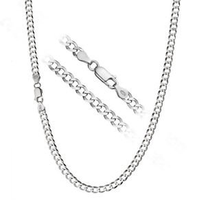 Sterling Silver Mens 5mm Solid .925 Curb Link Chain Necklace, Made in Italy- Available in multiple lengths