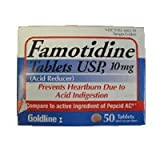 Famotidine Tablets 10 Mg For relief of heartburn - 50 Ea