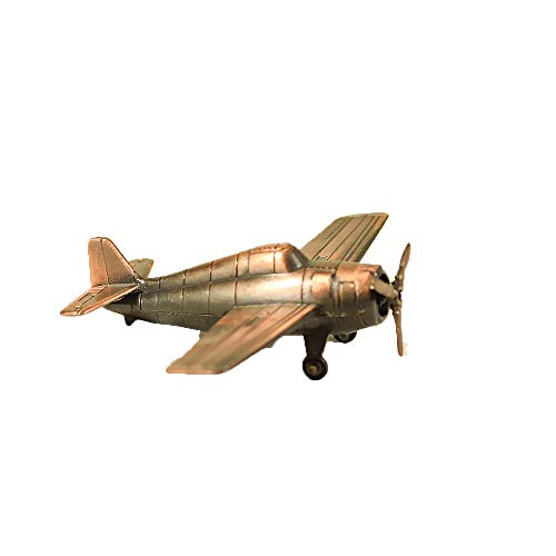 Wildcat Antique - Metal Die Cast F4F Wildcat Airplane Sharpener - Bronze Retro Plane Miniature Model - Antique Finished Office Ornament