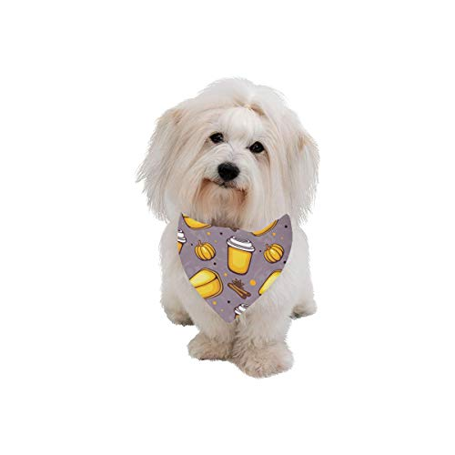XINGCHENSS Pet Dog Cat Bandana Cheesecake Dessert Afternoon Tea Fashion Printing Bibs Triangle Head Scarfs Kerchief Accessories for Large Dog Pet Birthday Party Easter Gifts]()