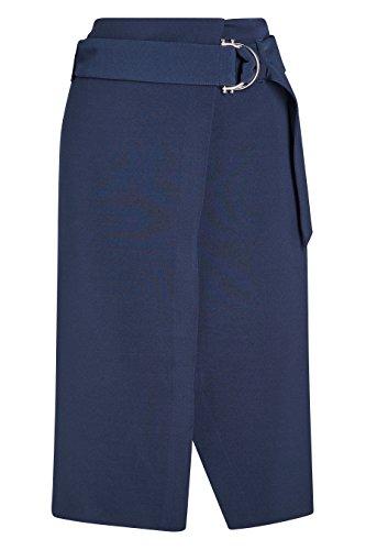 next Mujer Falda Cruzada Con Cinturón Corte Regular Ropa De Abajo Azul Marino