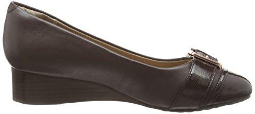 Hush Puppies HW05802-601, Zapatos de Cuñas Mujer Marrón (Dark Brown Leather)