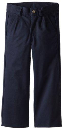 Nautica Little Boys' Uniform Pleated Twil Pant, Navy,7