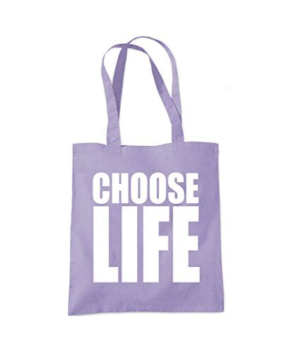 Choose Life - Tote Shopper Fashion Bag Lavender Purple