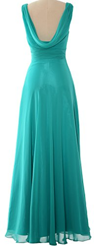 Gown Party Formal Women Burgunderrot Dress MACloth Long Bridesmaid Wedding Cowl Neck SRwAzqa7