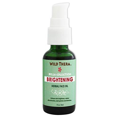 Wild Thera Organic Skin Brightening Oil. Organic Herbal Oil blend, anti-wrinkle blemish reducer, correct dark spots, age spots blotches. Improve skin lightness, tone and restore complexion.