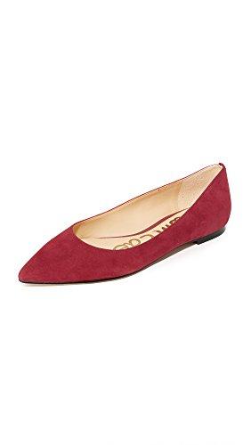 Tango Flat Red Women's Sam Toe Edelman Pointed Suede Rae WAwpq7
