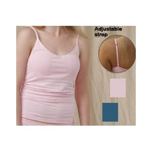 Price comparison product image Bella Juniors Pink Camisole Tank Top Cotton/spandex Camisole with Shelf Bra - Size Large