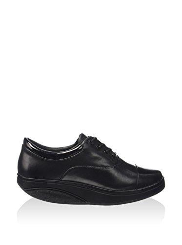 Oxford para de MBT Cordones Mujer Negro Zapatos Luxe Black Shani pwYRX