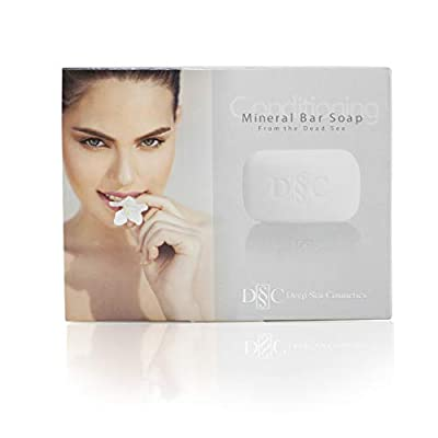Deep Sea Cosmetics | Dead Sea Mineral Salt Soap - Purifying | Exfoliating Acne Soap for Face and Body Clears Impurities from Pores with Dead Sea Minerals