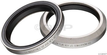 Bearings Cartridge Headset (FSA Mr110 th-073 Bicycle Headset Sealed Cartridge Bearing (1.5In x 36x45), Red/Black Seal)