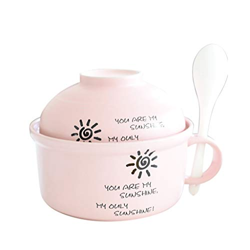 (Cereal Bowls Coupe Cereal Bowls Bowl home cute creative ceramic bowl with lid fruit bowl lunch box eating bowl restaurant kitchen cereal bowl Food Service Equipment & Supplie Kitchen )