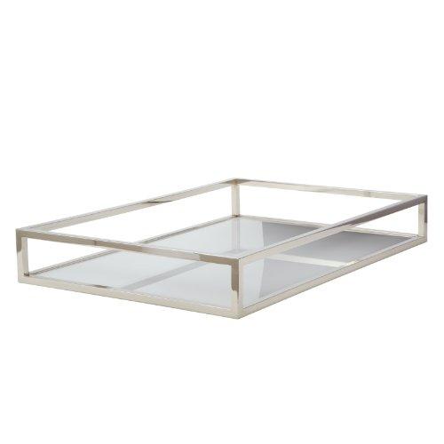 - Lazy Susan Dimond Home Rectangular Box Rod Tray, White