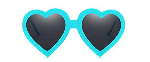 Caramelo Sol Hembra Gafas De Forma Color Uv400 De Corazón blue Blanco Sol De Rojo Con Mujeres De Rosado Barata Gafas De Sobredimensionado Parte Rojo TIANLIANG04 q4wRZf