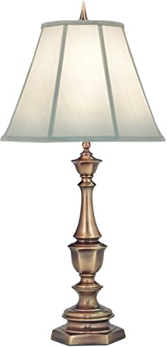(Stiffel Ivory and Antique Brass Table Lamp)