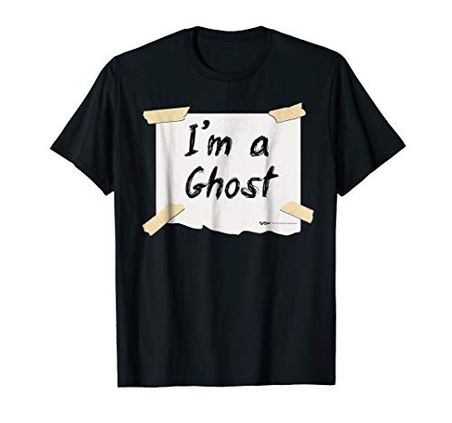 Mens I'm a Ghost Halloween Costume T Shirt 2XL Black -