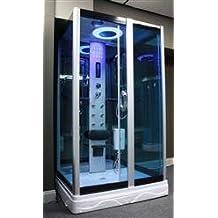 Square Steam Shower Enclosure w/Hydro Massage Jets.Bluetooth. 9009GR