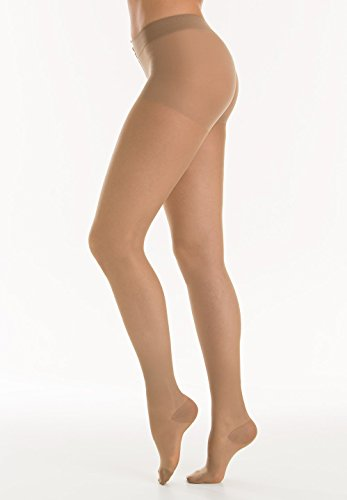 Alpha Medical 15-20 mmHg Compression Pantyhose, Graduated Compression & Support Hosiery Fine Italian Made Fashionable Sheer Stockings (Size 3 Nude)