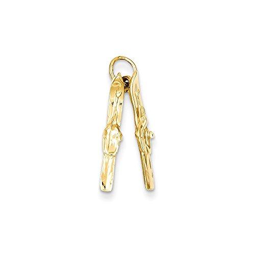 14K Yellow Gold Pair of Skis (Saris Skis)