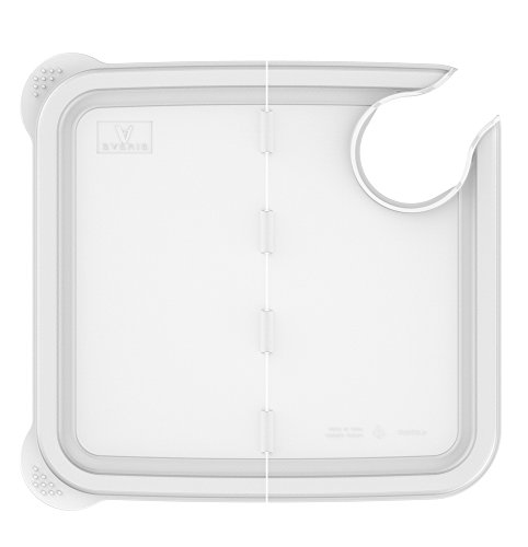 Large Product Image of EVERIE Collapsible Hinged Sous Vide Container Lid Compatible with Anova Culinary Precision Cooker and 12,18,22 Quart Rubbermaid Container (Corner Mount)
