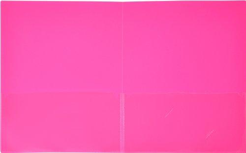 Lion Insta-Cover 2-Pocket Presentation Folder, Hot Pink, 1 Folder (91650-PK)