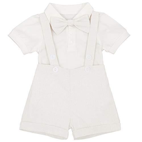 White Costumes Suspenders - IBTOM CASTLE Baby Boy Little Gentleman