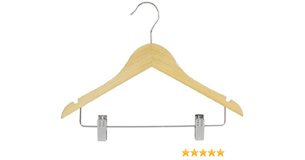 Only Hangers Junior Wood Suit Hangers Natural Finish Box Of 25 Home Kitchen