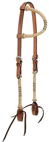 Royal King Single Ear Headstall with Braided Rawhide